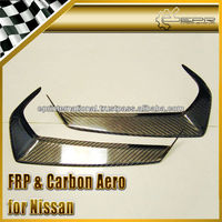 For Nissan R35 GTR gt-r 2009 -2011 Carbon Fiber Headlight Eye Lid Eyebrows Eyelids Trim Cover Panel Overlay Accessories Parts