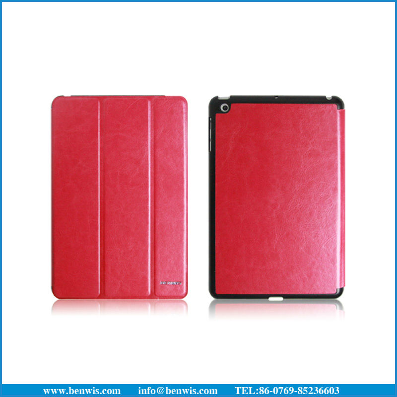 Standable Tablet PC leather Case for ipad mini case PC leather Case