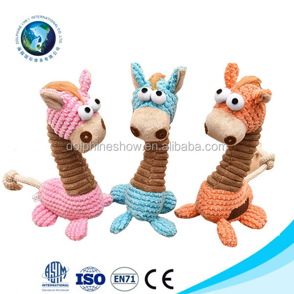 Durable Giraffe dog toy small pet squeaker chow toy for dog