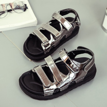 new style women rubber beach sandals,popular brand ladies walk sandal shoes