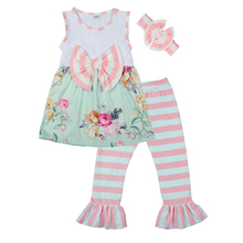 yiwu wholesale summer kids striped childrens boutique clothing