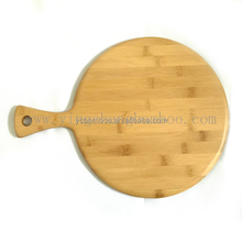 Bamboo wooden round pizza cutting board