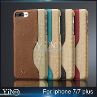 Dual Color Leather Back Cover Case for Apple iPhone 7 Plus Brand Original with Card Slot