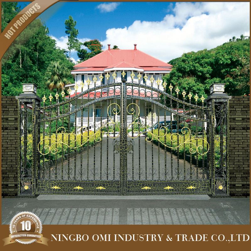 China top selling iron gate/Luxury and beauty gate/ houses iron gates for villa with low price