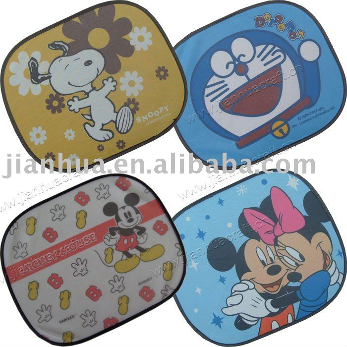 cartoon car sunshades