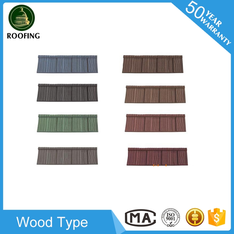 New design Wood stone coated steel metal roofing tiles,metal roofing sheet with high quality