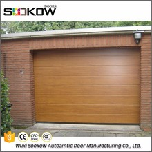 customized electrical operation garage door with PU foam panel