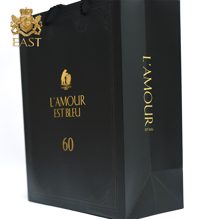 Luxury Custom wine Gift Paper Bag Shopping With Logo Print