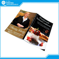 Well designed colorful cook book printing with top quality