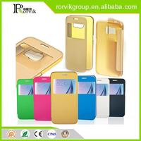 Free sample hot selling cell cheap leather cell mobile phone case for Samsung galaxy S6 mobile phone accessory