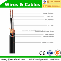 wire braiding screened steel wire armmoured plastic electric cable