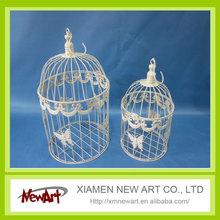 Hanging birdcage with butterfly white color bird cages for sale