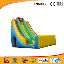 Commercial PVC material Double Lane Giant Inflatable Slide for adults and kids
