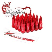 Ryanstar 1 lot(20pcs)Color top + Red Wheel Lug Nuts with 50MM for M12 x 1.5