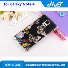 Printing Pattern with Crystal bling bling plastic lightweight hard cell phone case for samsung galaxy Note 4