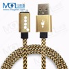 OEM 1M Fabric braided USB data charger cable for iphone5 5S 6 6s 6Plus Nylon Cord 7 7s 7plus
