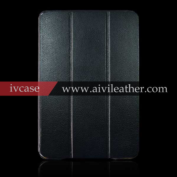 Made in China Wholesale Black Case For iPad Mini 2 Leather case