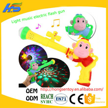 wholesale Light music electric flash gun pistol monkey pattern gun Mantianxing colorful flash toy gifts for children