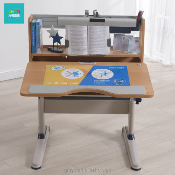 wooden height adjustable children learning desk