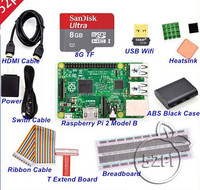 Latest Version Raspberry Pi 2 with Black Case Ultimate Starter Kit
