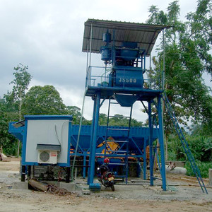 mini ready-mixed HZS25 hopper lift type concrete batching plant price