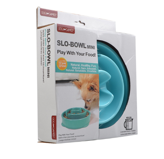 Slow Feeder Dog Bowl Fun Feeder Stop Bloat Bowl for Dogs by Outward Hound
