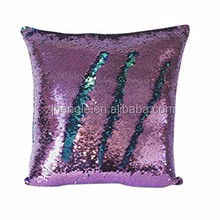 Decorative sequin outdoor furniture cushions color changing mermaid studium seat cushion
