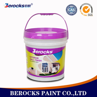 Berocks waterproof latex paint for finishing living room wall paint colors