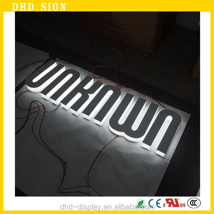 led lignting signage and logo advertising 3D outdoor sign boards for shops