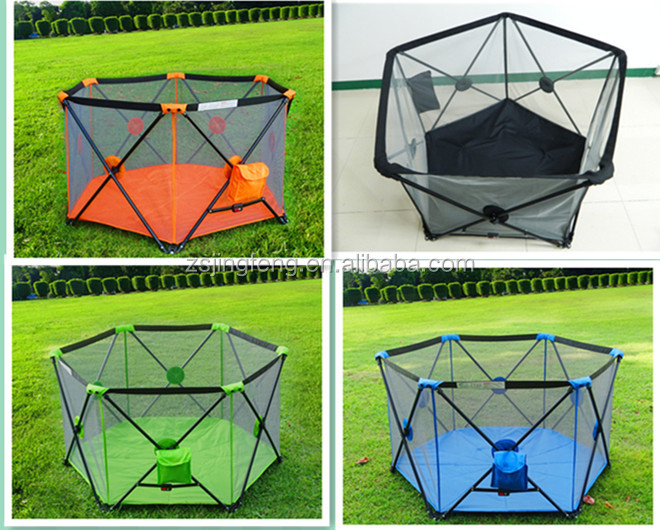Baby Child Safety Products Outdoor Luxury Baby Playpen Kids Pop Up Play Yard With Sunshade