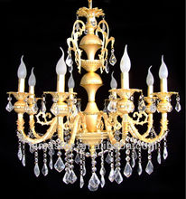 modern luxury 5 star hotel pendant light crystal chandelier with 8 lights