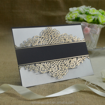 Custom Logo Paper tombstone unveiling invitation cards paper crafts Decorative