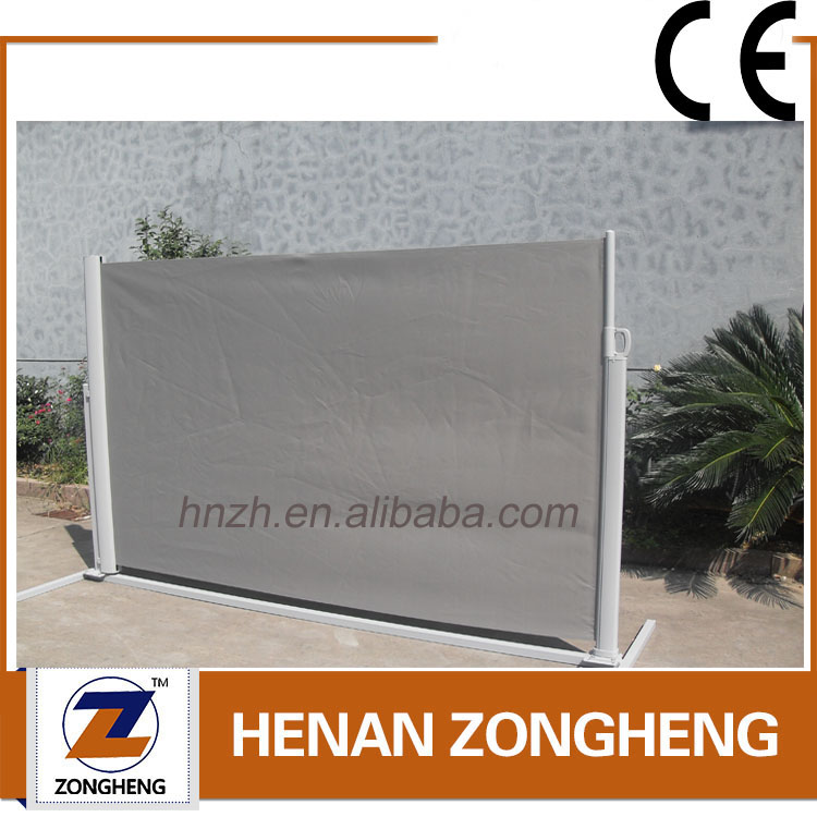 Professional outdoor retractable wind screen side awning for garden/balcony