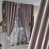 Hot double swags satin window curtains with eyelets from china