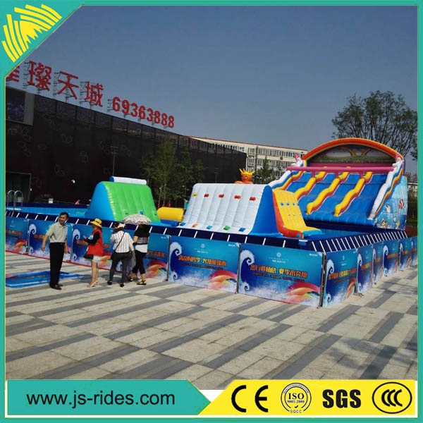 Professional supplier big large inflatable water slide with repair kit