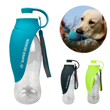 RoblionPet wholesale Outdoor Portable foldable creative leaves shape cat dog water bottle traveling pet drinking water bottle