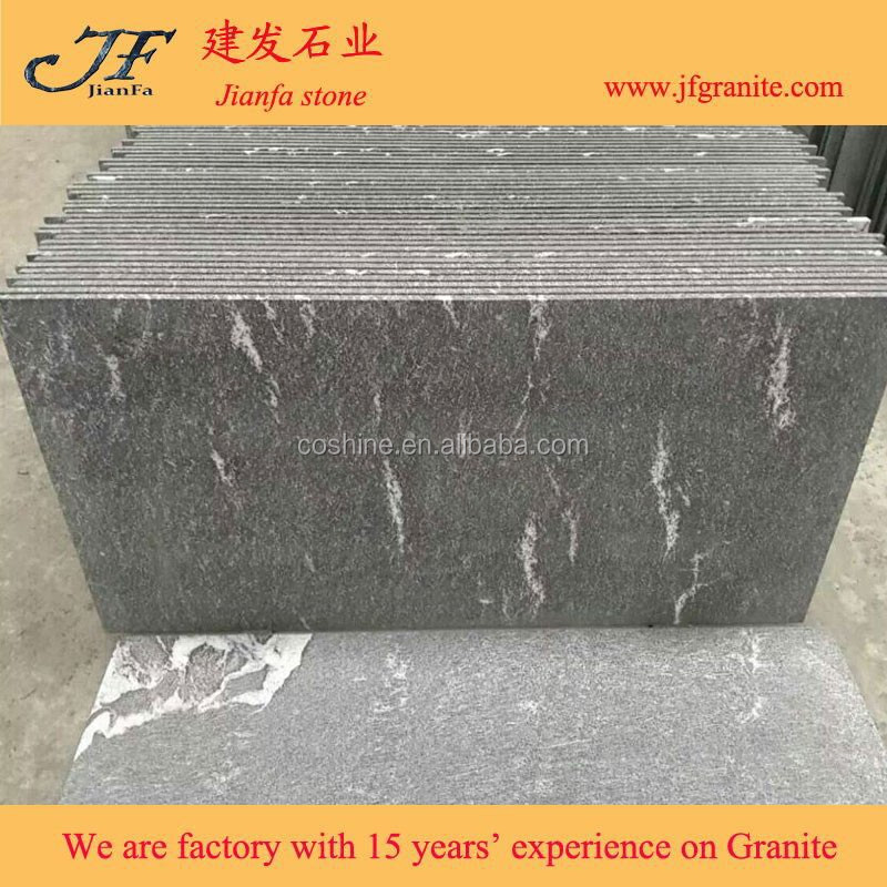 China Jet Black Mist Snow Grey Granite On Sale