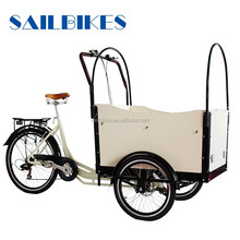2015 new design front two wheels tricycle with cargo box
