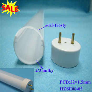 T8 plastic housing for lamps