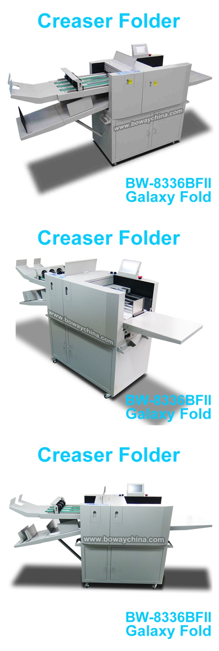 BOWAY BW-8336BFII 7 Folding Types Electric Paper Sheets Creaser Folder