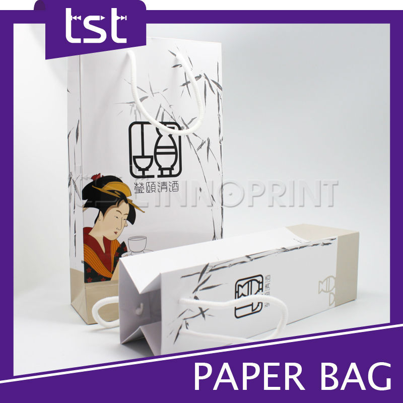 KD020 2016 High Quality Eco Gift Promotion Paper Wine Bottle Bag