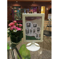A6 size restaurant plastic table menu display stand