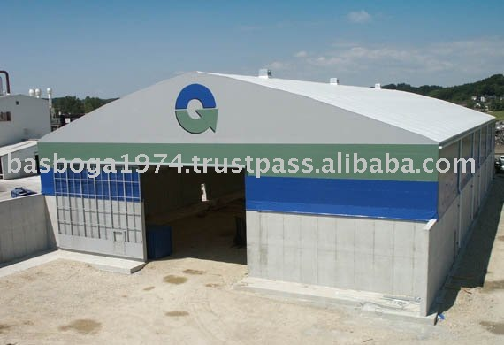 Warehouse Tent With Hard Panel Sidewalls
