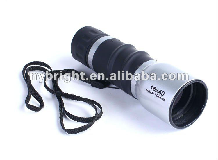 Silver Metal Oblique Twill Telescoping Monocular 16X40 Monoculars