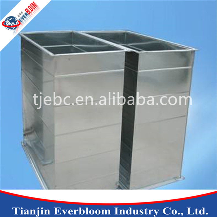 Flanged fabric air duct for ventilation