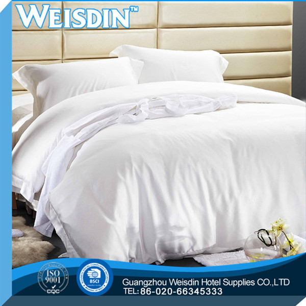 polyester / cotton 2014 ripple pattern percale hotel bed sheets
