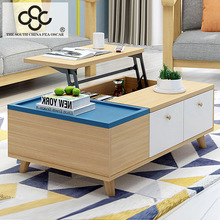 Home Goods Color Acrylic Rustic Coffee Table Cheap Modern Style Plywood Tea Table