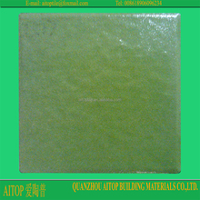 Ceramic plaza flooring paving material square green glazed slab tile non-slip