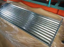 Zinc coated steel Roofing Sheets / Galvanized steel roofing tiles corrugated from coils used for building construction
