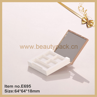 OEM 4 color empty square plastic eyeshadow palette case